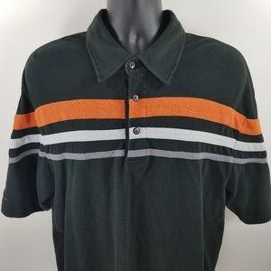 Harley Davidson black polo shirt men's